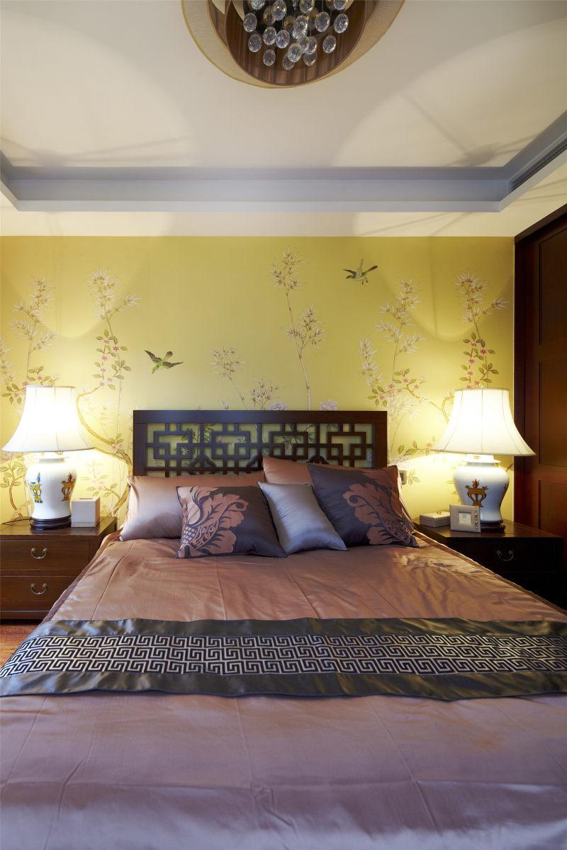 杭州浪漫和山新中式风格住宅别墅家居家装室内装饰装修设计实景图