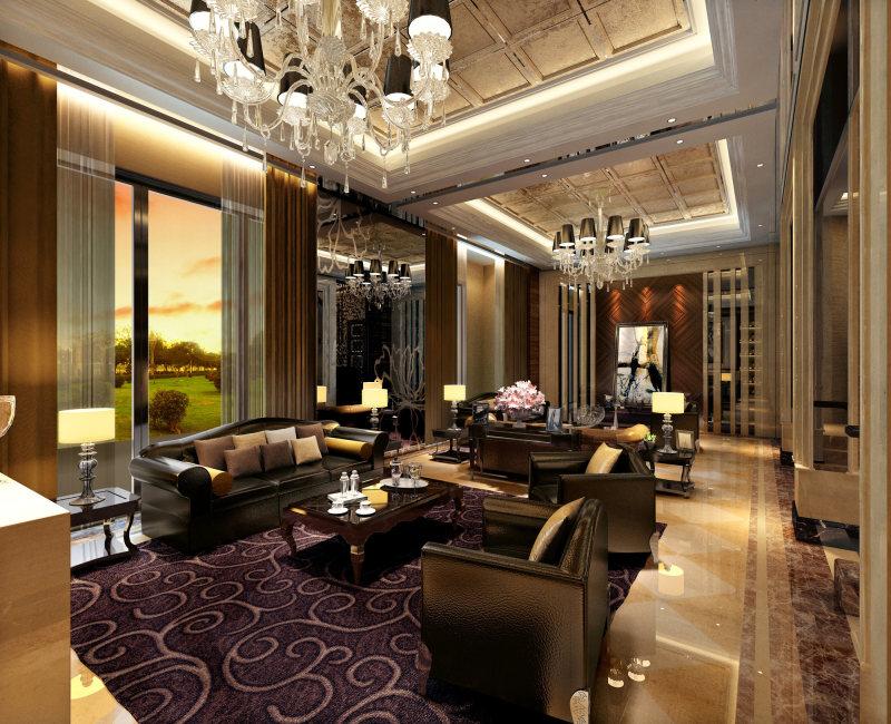 18-私人豪宅欧式风格住宅空间装饰装修设计实景图图片