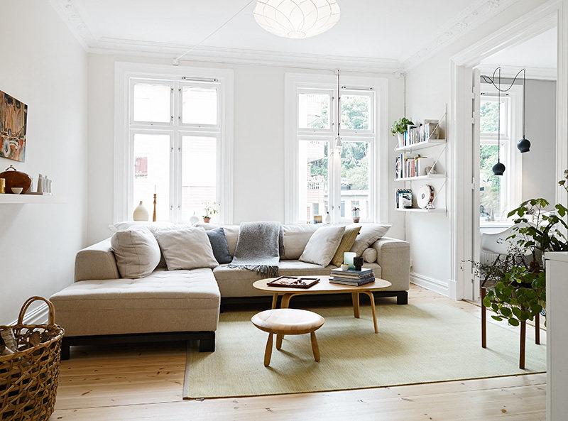 65平米慵懒适宜公寓混搭风格住宅空间装饰装修设计实景图