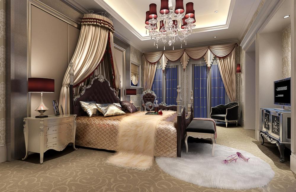 别墅家居装饰设计住宅艺术装饰设计室内设计效果图实景图欧式风格住宅
