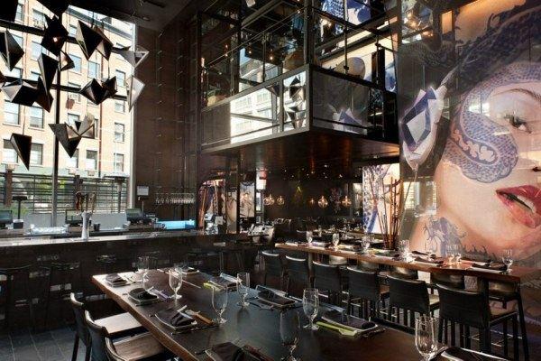 棱鏡藝術的夢幻餐廳工業風格室內裝飾裝修設計實景圖