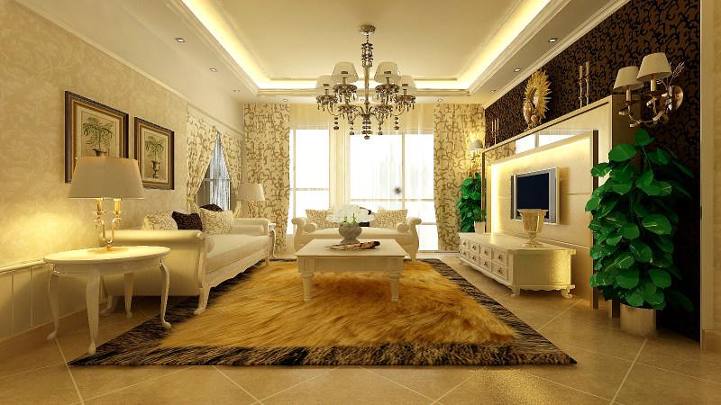 奢华欧式风格经典住宅艺术装饰设计室内设计效果图实景图欧式风格住图片