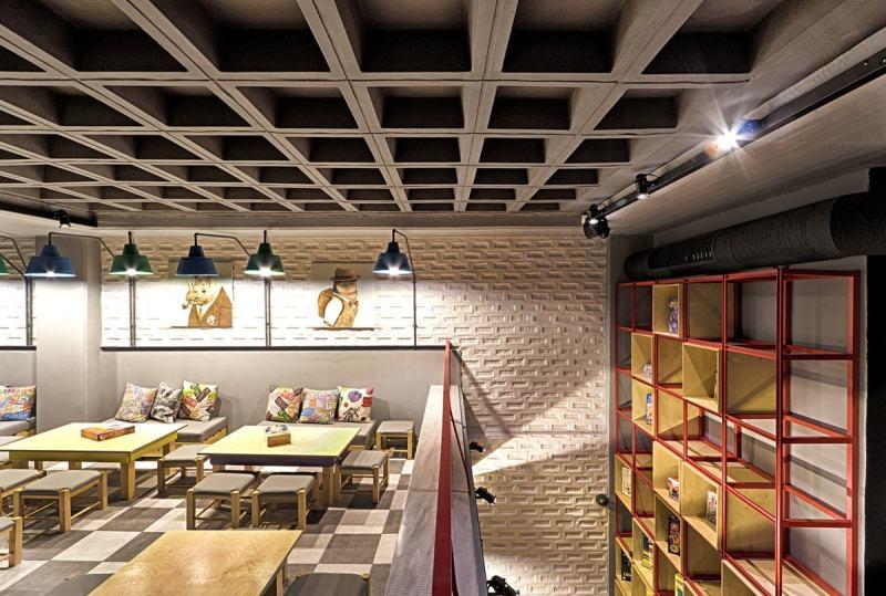 馆_triopton architects作品--棋盘游戏咖啡馆混搭风格室内设计实景图