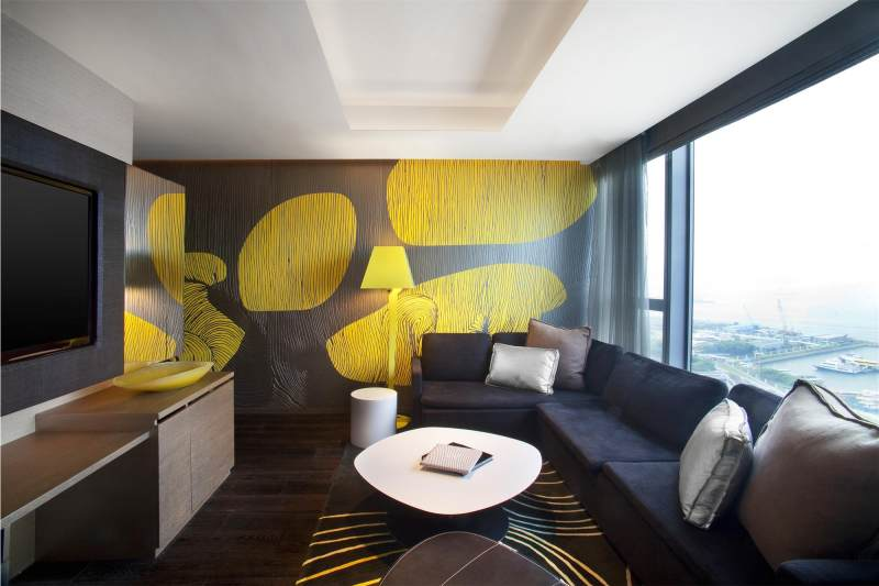 香港w酒店现代风格宾馆酒店室内装饰装修设计实景图