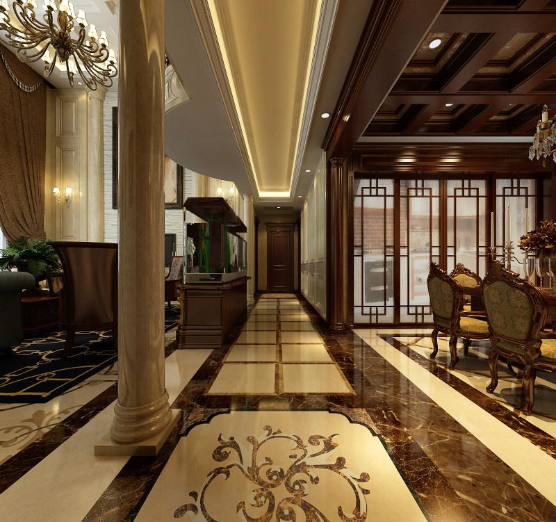奢华欧式风格经典住宅艺术装饰设计室内设计效果图实景图住宅空间装饰