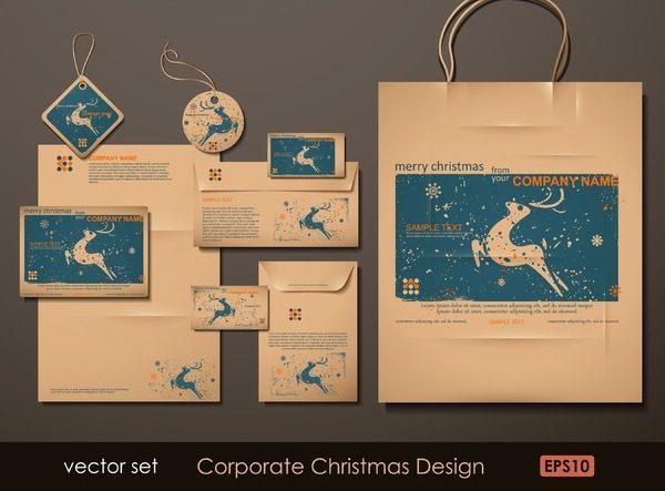 圣诞节VI模板设计