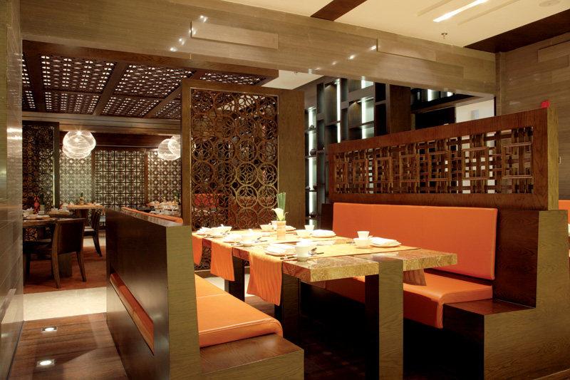 万豪中餐厅中式风格室内装饰装修设计实景图