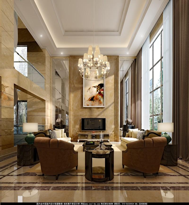 奢华古典欧式风格经典住宅艺术装饰设计室内设计效果图实景图欧式