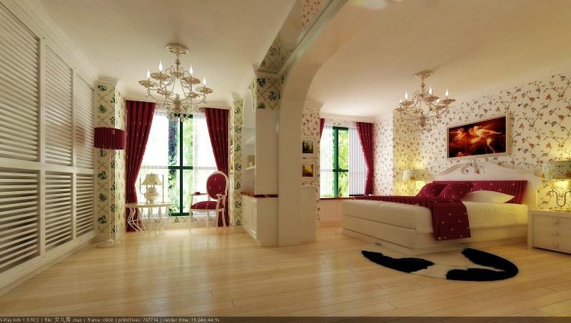 田园欧式风格经典住宅设计装饰艺术室内设计效果图实景图欧式风格住宅