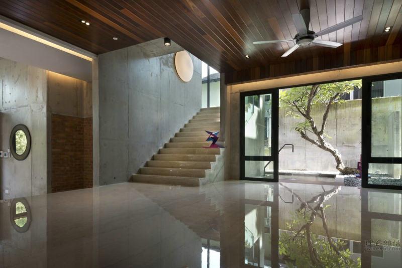 马来西亚塔灵加雅现代工业风格的住宅公寓空间室内装饰装修设计实景图