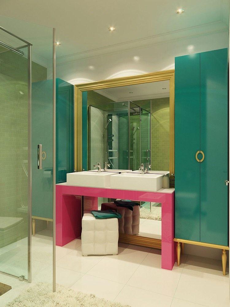 俄罗斯摩登波普风公寓混搭风格住宅空间装饰装修设计实景图