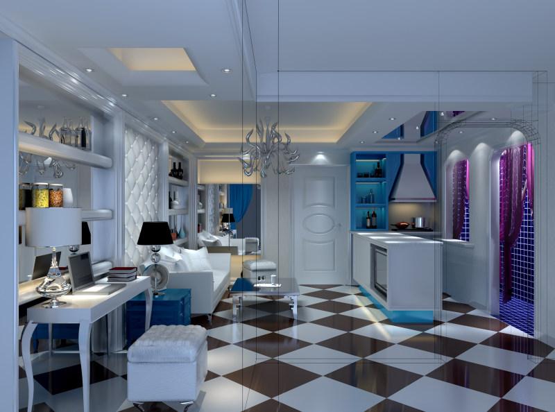 017欧式风格住宅空间装饰装修设计实景图