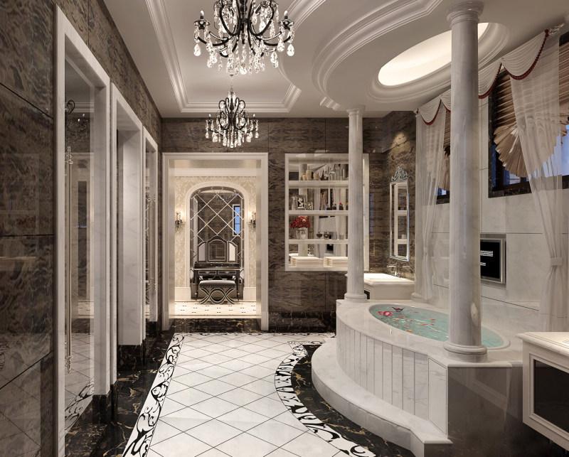 桃花源别墅现代欧式豪华典雅大空间别墅家居装饰设计住宅艺术装饰设计
