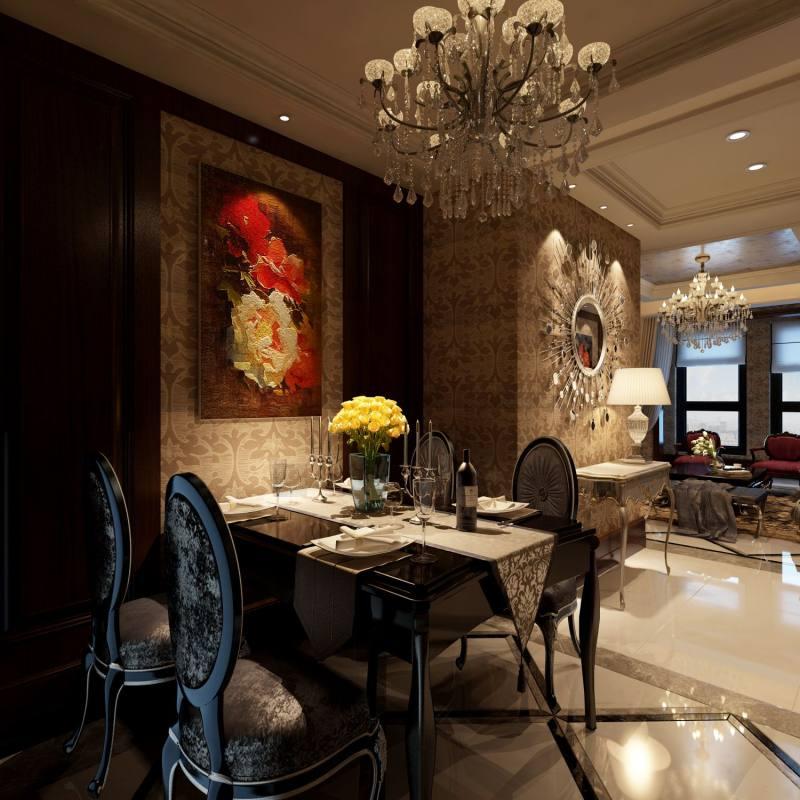 奢华欧式风格经典住宅艺术装饰设计室内设计效果图实景图欧式风格住