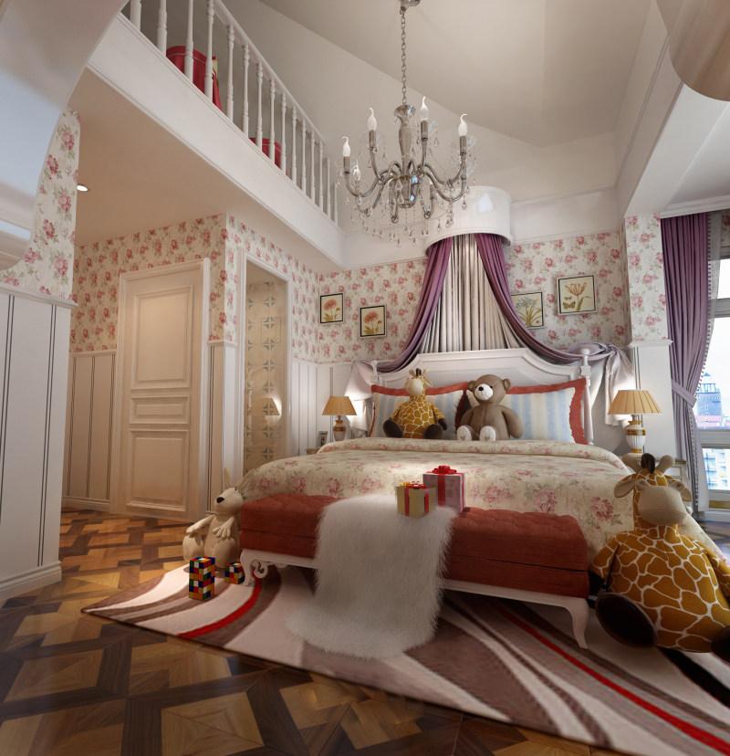 温馨庄重古典欧式别墅家居装饰设计方案效果图经典田园欧式住宅设计