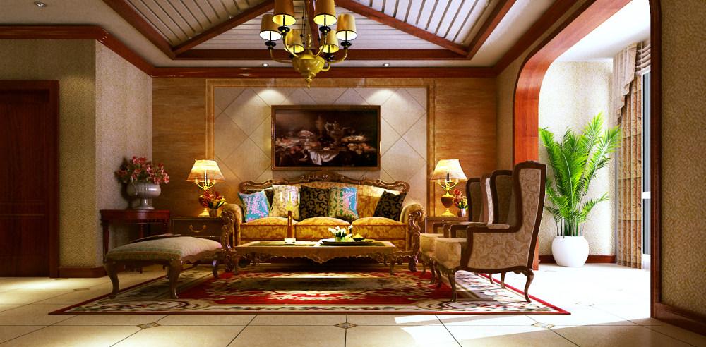豪华温馨的古典欧式别墅奢华欧式风格经典住宅艺术装饰设计室内设计效