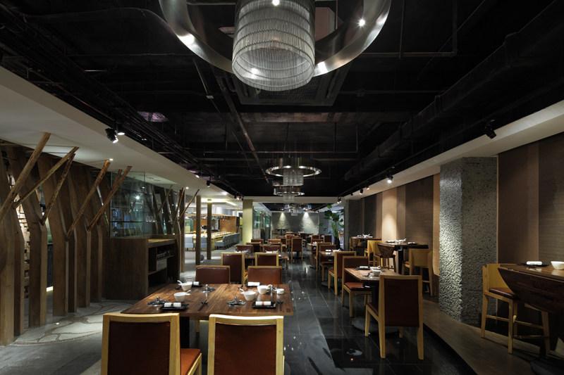 北京工体宴火锅混搭风格室内装饰装修设计实景图