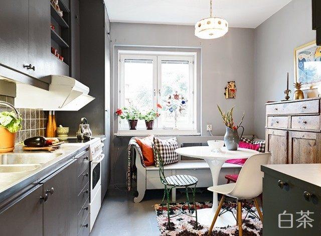 56平米文艺复兴公寓混搭风格住宅空间装饰装修设计实景图