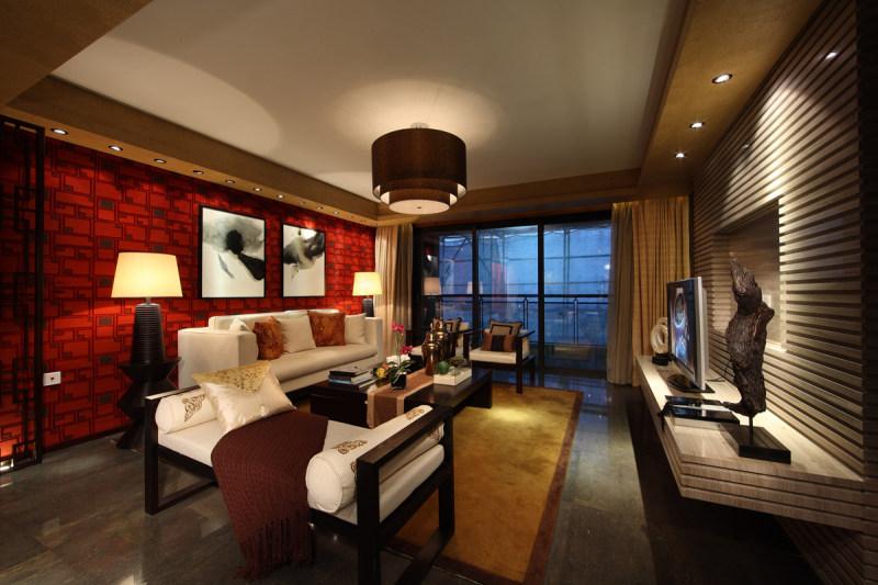 宝安合正中央原著别墅间新中式别墅风格样板家居家装室内装饰装修设计区在上海市哪个住宅图片