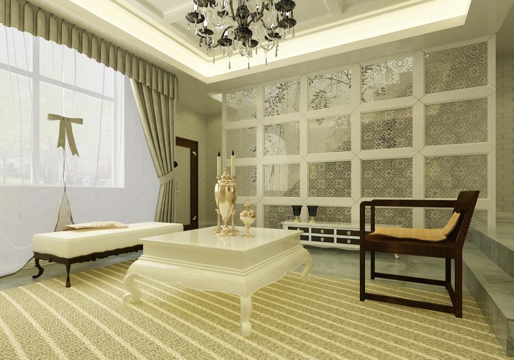 温馨靓丽现代欧式家居装饰设计方案效果图奢华欧式风格经典住宅艺术装