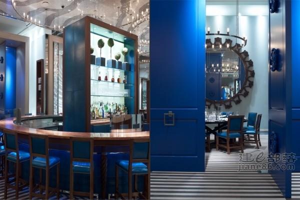 季裕堂作品--米高梅saltwater海鲜餐厅混搭风格室内装饰装修设计实景