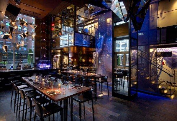 餐厅_棱镜艺术的梦幻餐厅工业风格室内装饰装修设计实景图