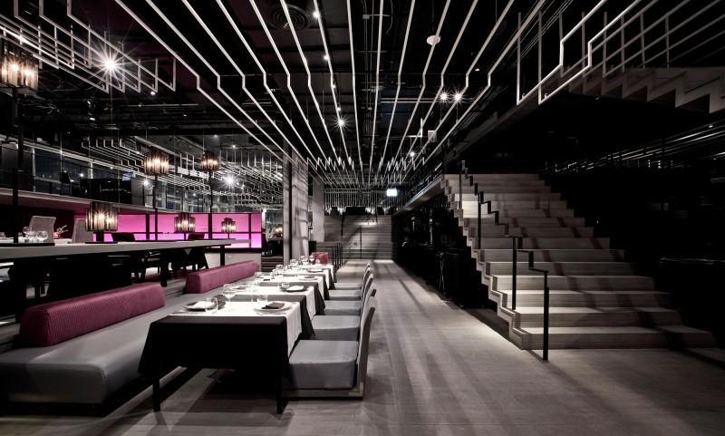 [餐飲]泰國曼谷帕度萬zense餐吧工業風格室內裝飾裝修設計實景圖