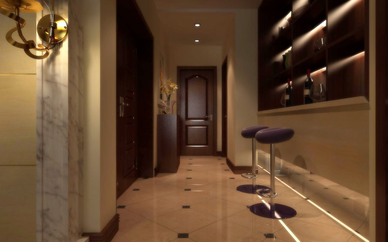 现代欧式沉稳大气褐色调家居装饰设计住宅艺术装饰设计室内设计效果图