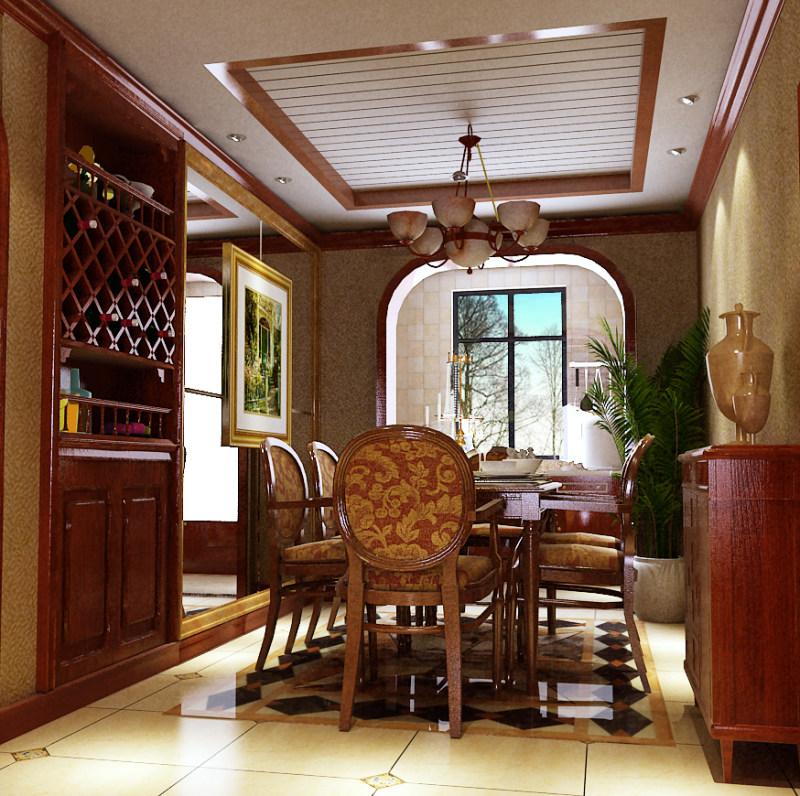 豪华温馨的古典欧式别墅奢华欧式风格经典住宅艺术装饰设计室内设计