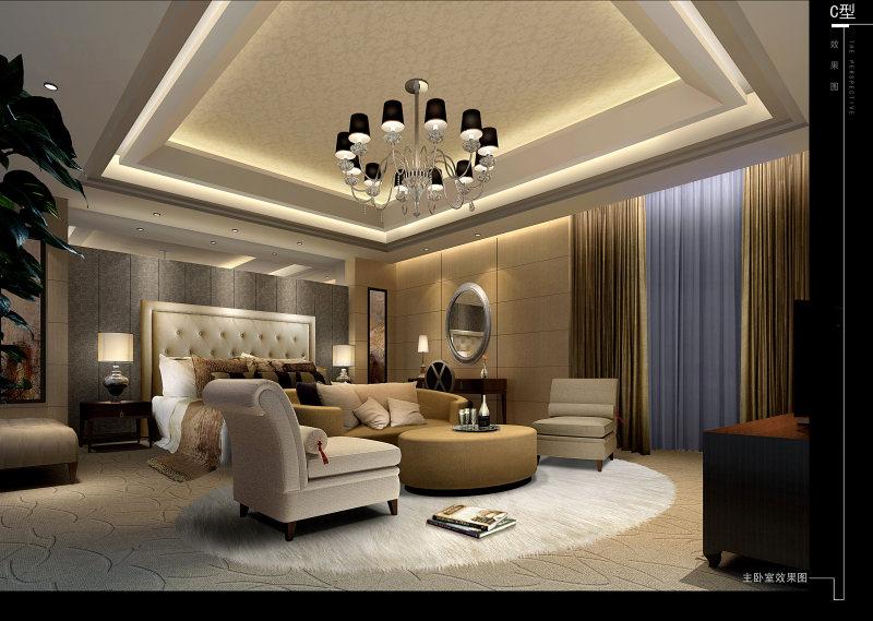 北京天竺澳景园别墅c户型欧式风格住宅空间装饰装修设计实景图