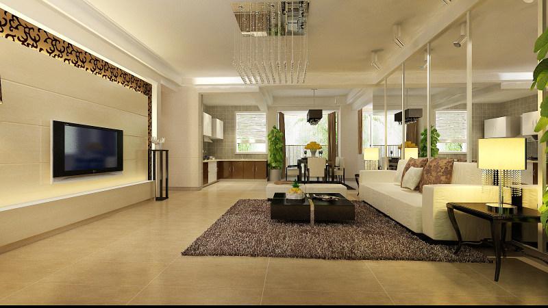 现代欧式风格经典住宅艺术装饰设计室内设计效果图实景图欧式风格住宅