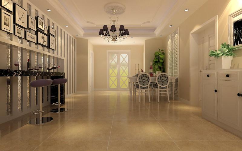 现代欧式简洁温馨舒适家居客厅餐厅装饰设计住宅艺术装饰设计室内设计