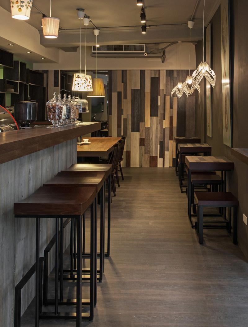 德力设计--新竹遇见咖啡商空案工业风格室内装饰装修设计实景图