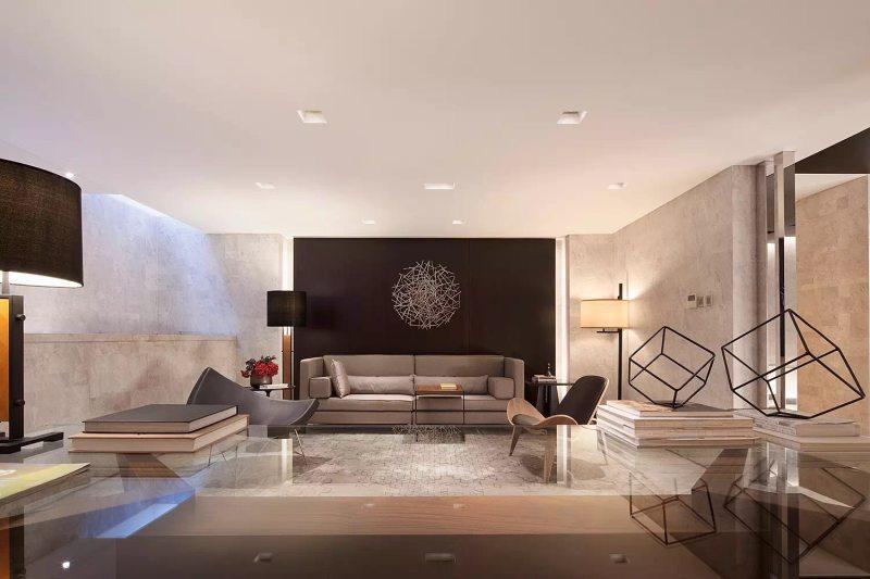 hsd琚宾新作新中式风格住宅别墅家居家装室内装饰装修设计实景图