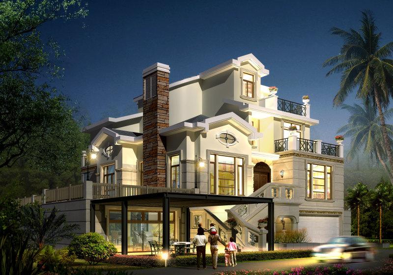 奢华古典欧式风格经典住宅艺术装饰设计室内设计效果.