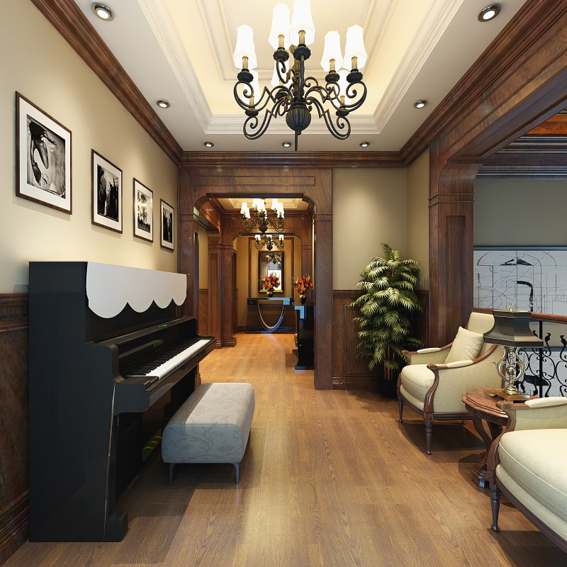 奢华古典欧式风格室内别墅经典住宅装饰艺术设计效果图实景图欧式风格