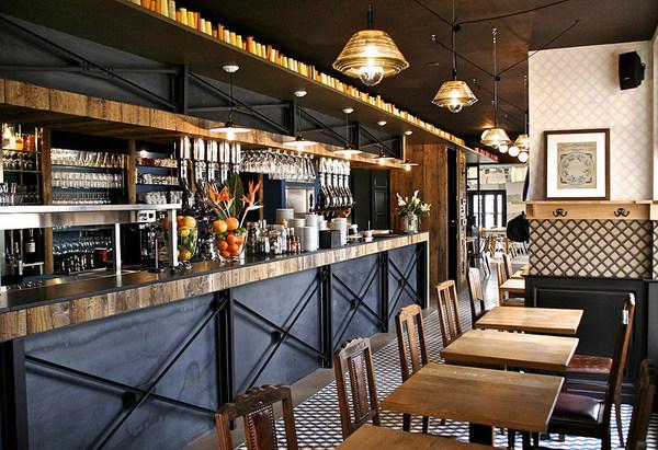 馆_la corde à linge 老外的咖啡馆工业风格室内装饰装修设计实景图