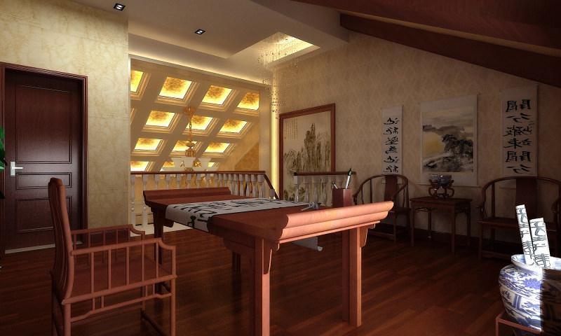 顶层复式欧式风格经典住宅艺术装饰设计室内设计效果图实景图欧式风格