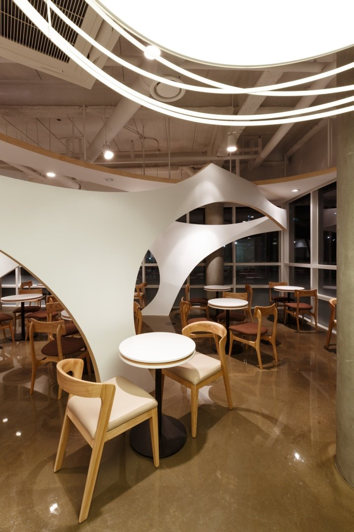 室内 餐饮会所类装修 工业风格 韩国首尔320平米咖啡馆工业风格室内装