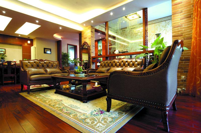 都市花园新中式风格住宅别墅家居家装室内装饰装修设计实景图