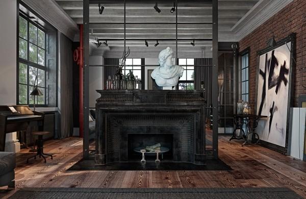 工业风格住宅公寓空间室内装饰装修设计实景图