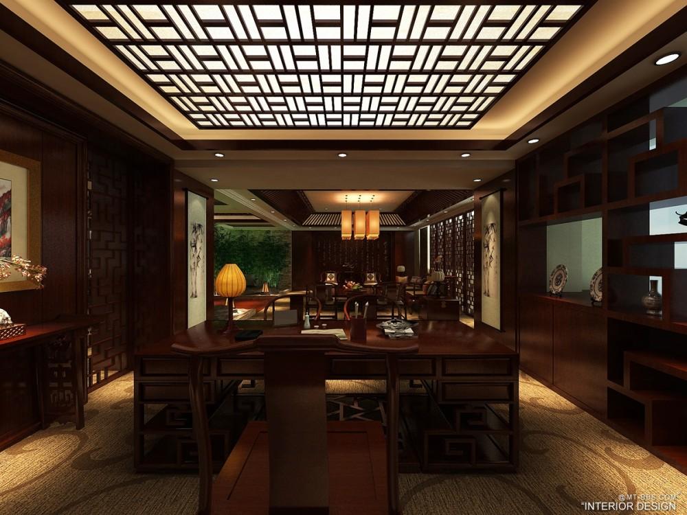 中式风格 董事长办公室--古典中式 办公空间室内装饰装修设计实景图