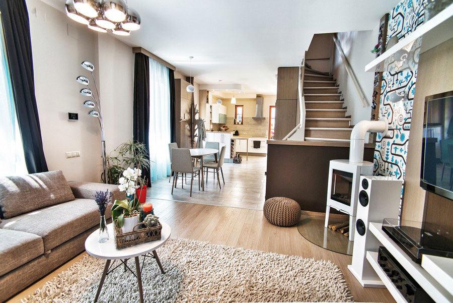 匈牙利布达佩斯充满活力的公寓混搭风格住宅空间装饰装修设计实景图
