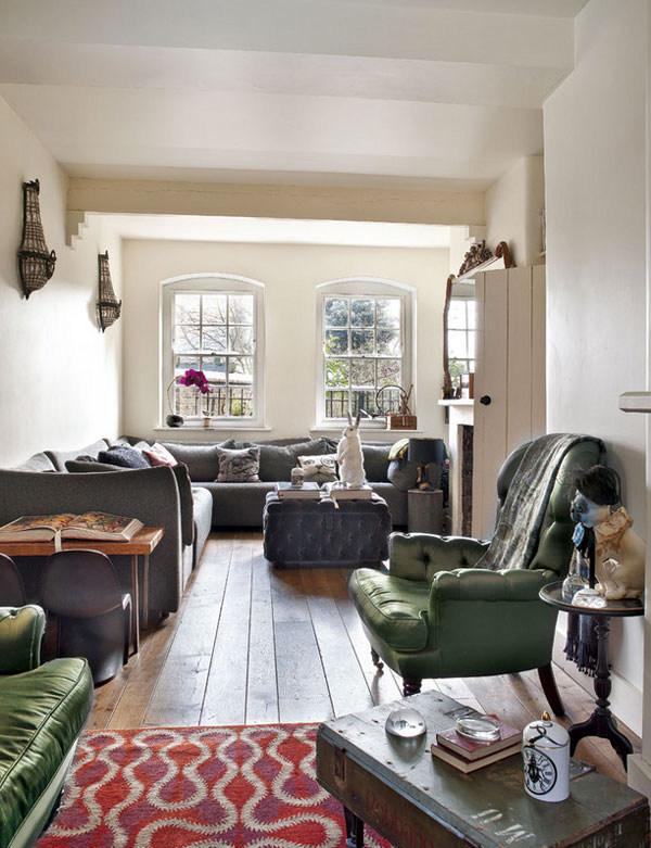 新奇古怪 英国艺术家的公寓混搭风格住宅空间装饰装修