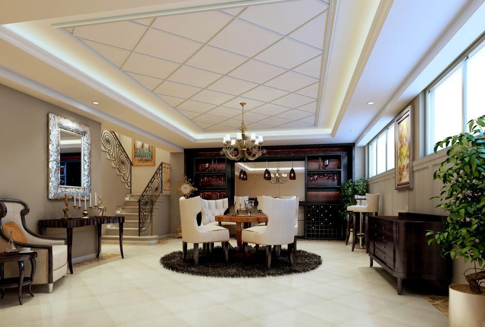新古典奢华欧式风格经典住宅艺术装饰设计室内设计图.