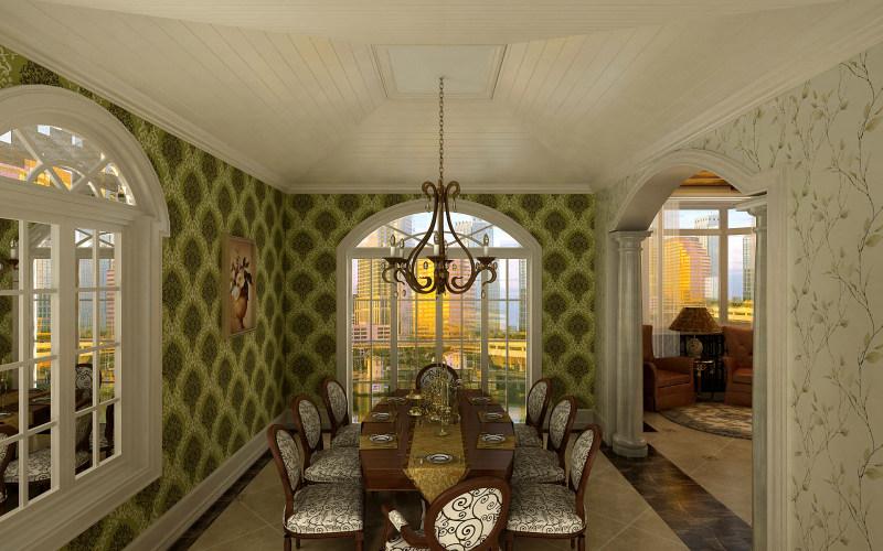 舒适新古典欧式别墅奢华欧式风格经典住宅艺术装饰图.