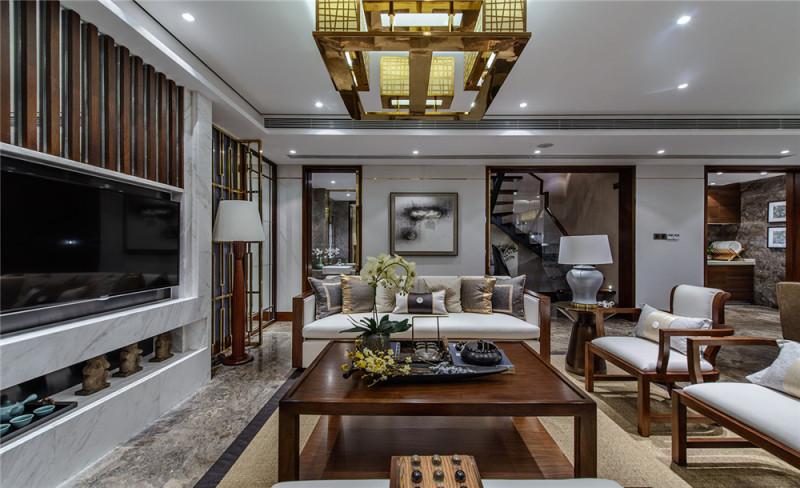 品辰设计--诗意栖居新中式风格住宅别墅家居家装室内装饰装修设计实景