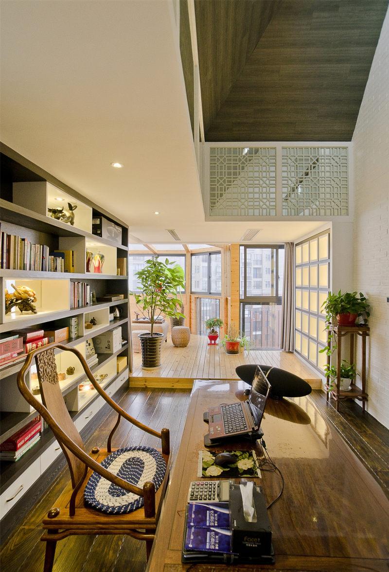 上海奉贤--复式住宅--荷塘月色新中式风格住宅别墅家居家装室内装饰