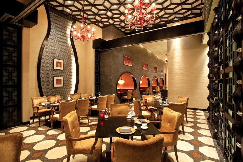 喜粤中餐厅中式风格室内装饰装修设计实景图