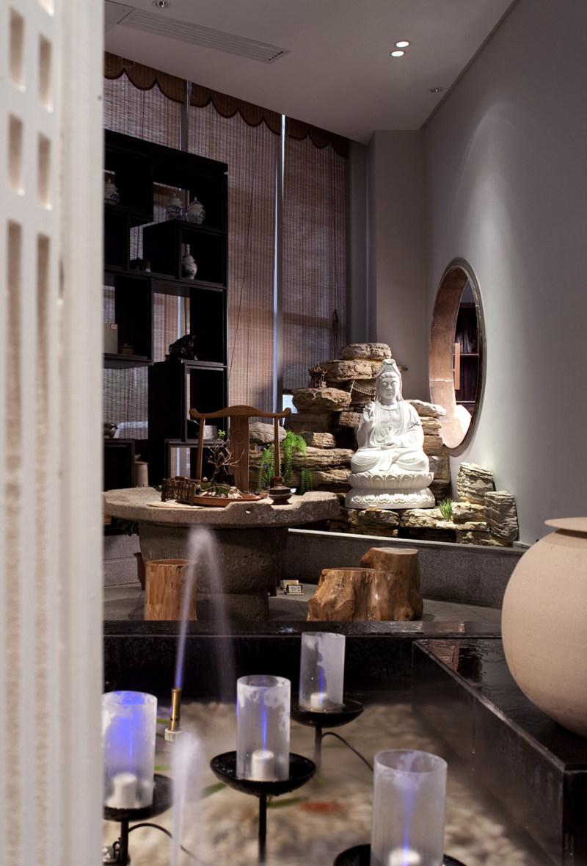 许建国-观天下茶室中式风格室内装饰装修设计实景图